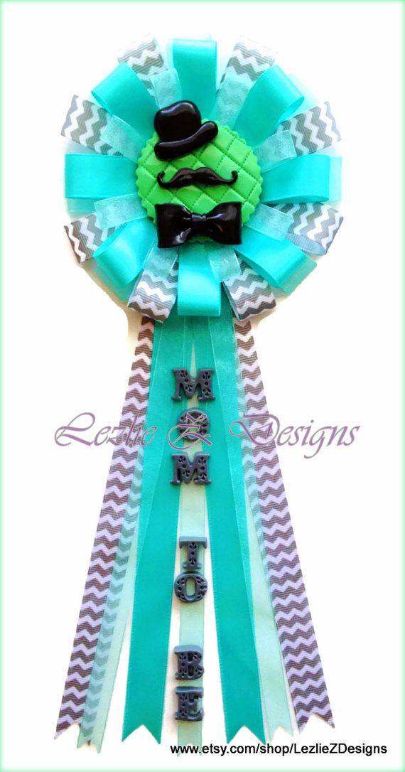 Little Gentlemanman Hat Mustache Bow Tie Theme Baby Shower Corsage