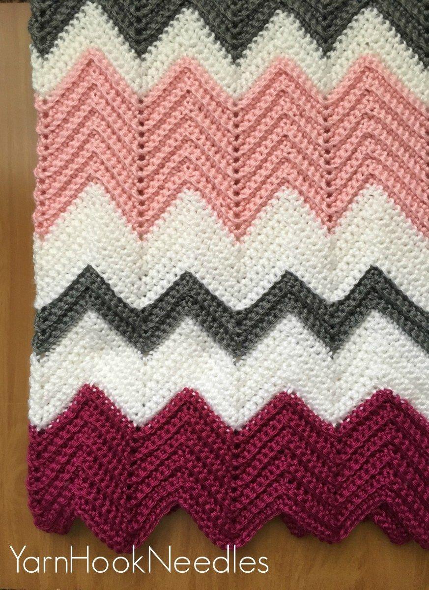 Modern Crochet Chevron Blanket with FREE Pattern   Crochet stuff ...