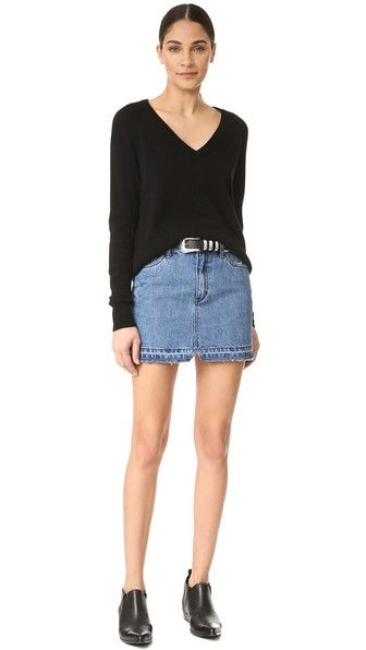 9e789f6988ef9 Free People Step Up Denim Mini Skirt