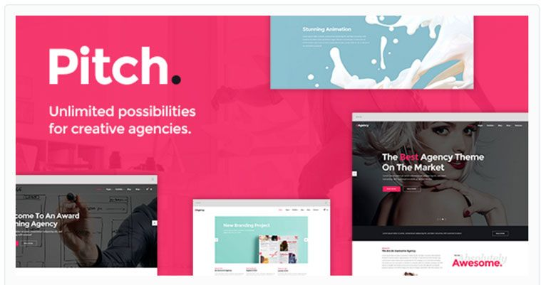 Pitch WordPress Theme For Freelancers And Agencies | Best WordPress ...