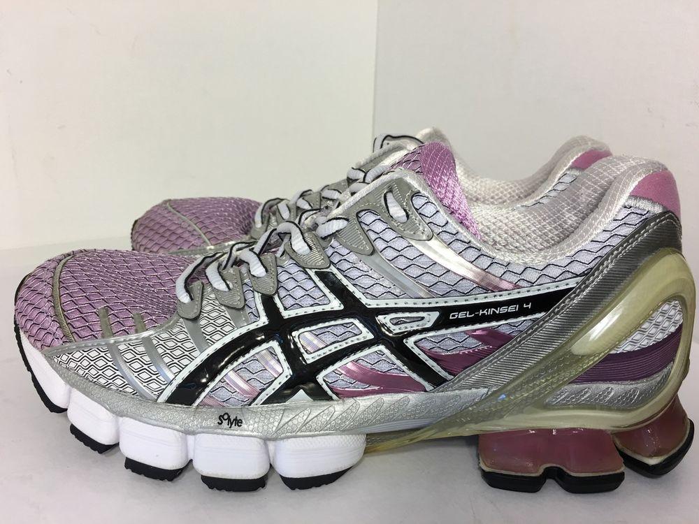 reputable site 9f0d1 30fb1 Womens Asics Gel Kinsei 4 Running Training Shoes Pink Black White Size 9 5    eBay