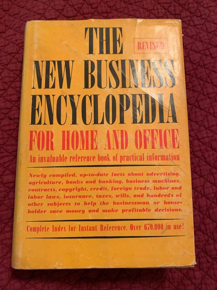 The Revised New Business Encyclopedia For Home And Office 1963