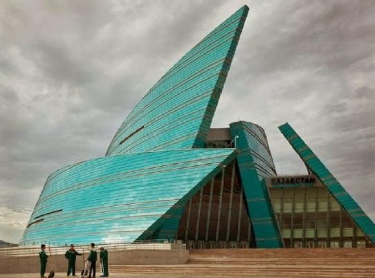 The stunning Kazakhstan Central Concert Hall, Astana, 2009, by the gifted architect Manfredi Nicoletti.