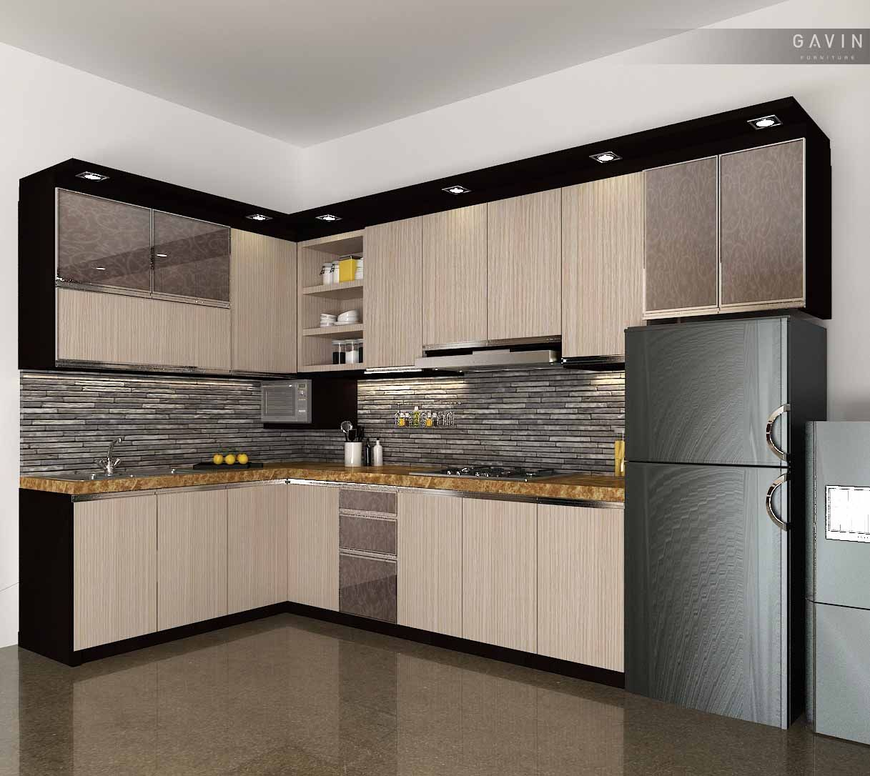 desain kitchen set minimalis HPL di kemanggisan  Kitchen