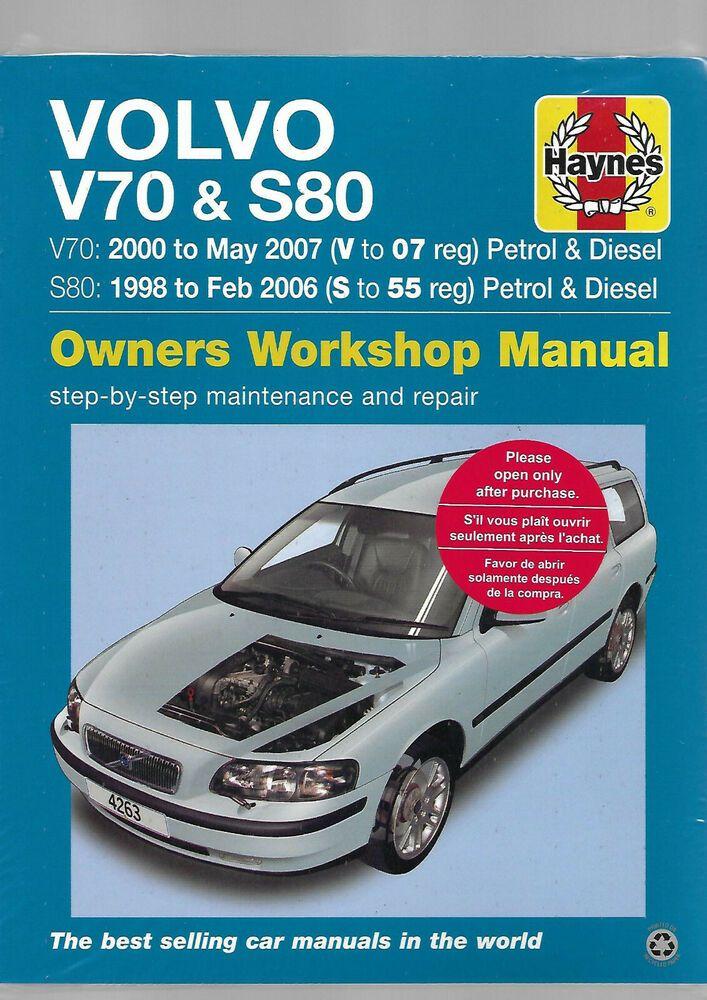 Haynes New Sealed Volvo V70 S80 Petrol Diesel Turbo D5 Service Repair Manual Volvo