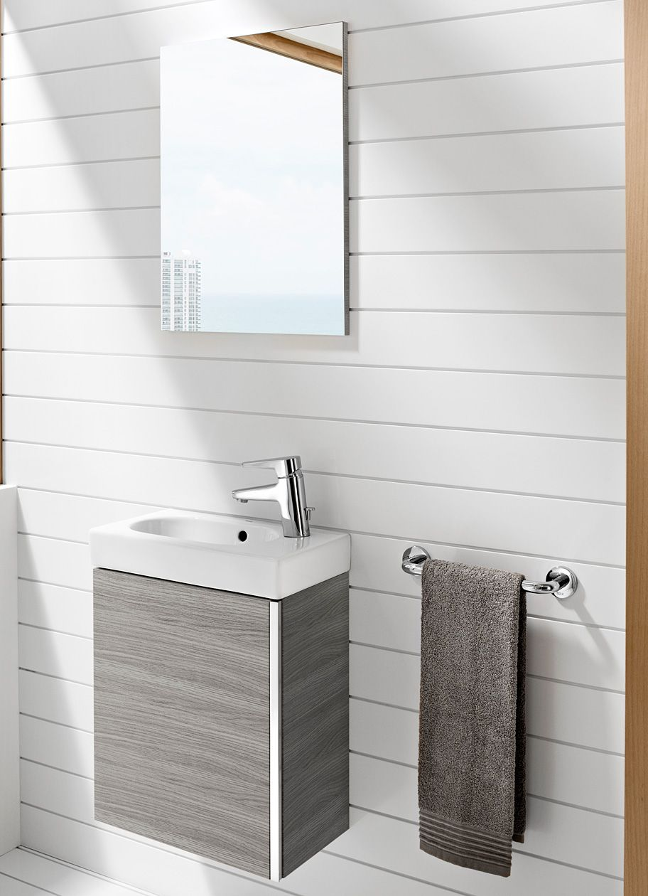 Roca Mini Basin And Base Unit - Textured Grey | Downstairs Toilet ...