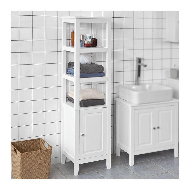 Etagere Sur Pieds De Salle De Bain En 2020 Armoire De Toilette Armoire Salle De Bain Petit Meuble Pour Salle De Bains