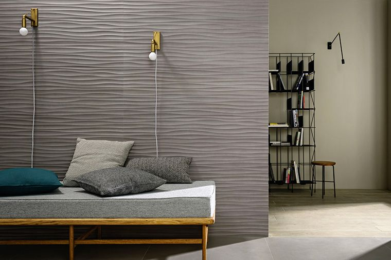 Satin concrete effect wall tiles Materika by Marazzi Textures