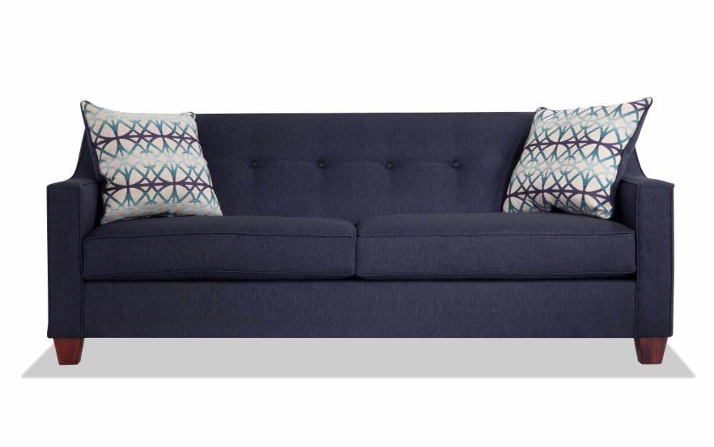Caleb Blue Sofa In 2020 Blue Sofa Sleeper Sofa Large Accent Pillows