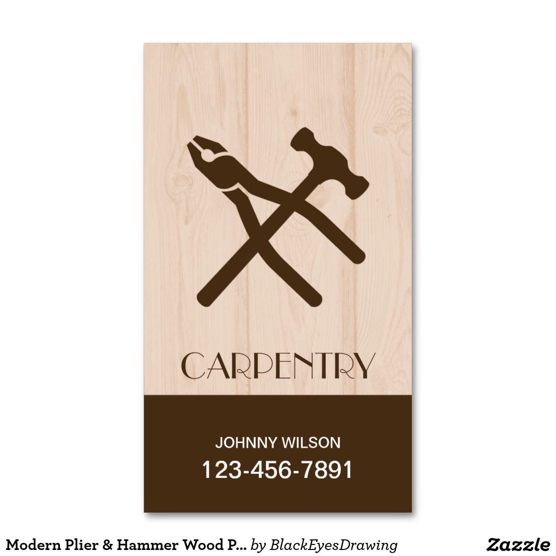 Modern plier hammer wood plate construction business card modern plier hammer wood plate construction business card reheart Gallery