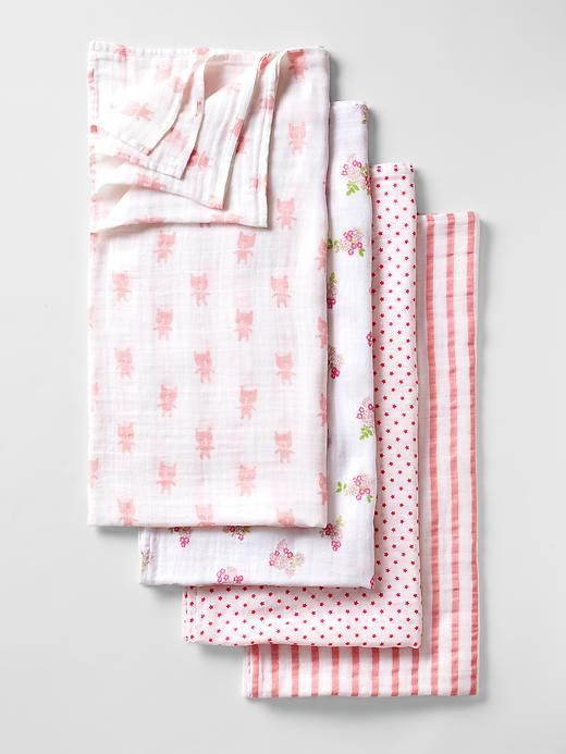 Aden And Anais Swaddle Blankets Entrancing Babygap X Aden  Anais® Print Swaddle Blanket 4Pack  Gap  Baby Design Decoration