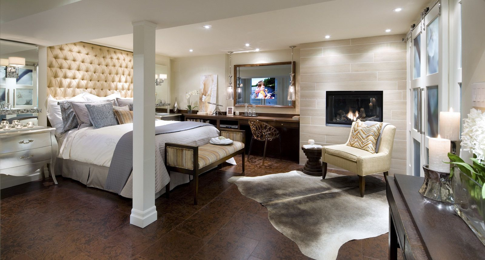 Basement Bedroom Design Beauteous Large Fresh Basement Bedroom In Elegant Design  Basement Remodel Inspiration