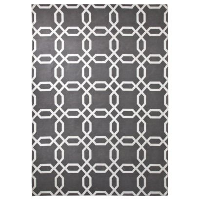 Gray and white rug target