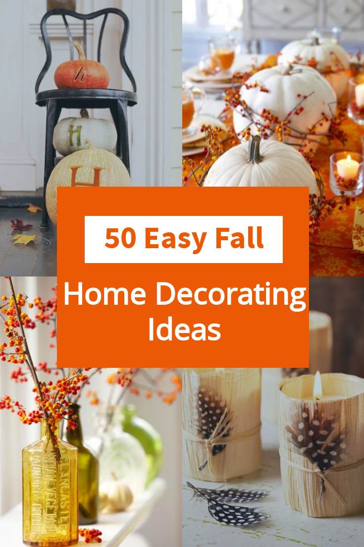 50 Easy Fall Decorating Projects Fall Decorating Projects Fall Decor Fall Thanksgiving Decor
