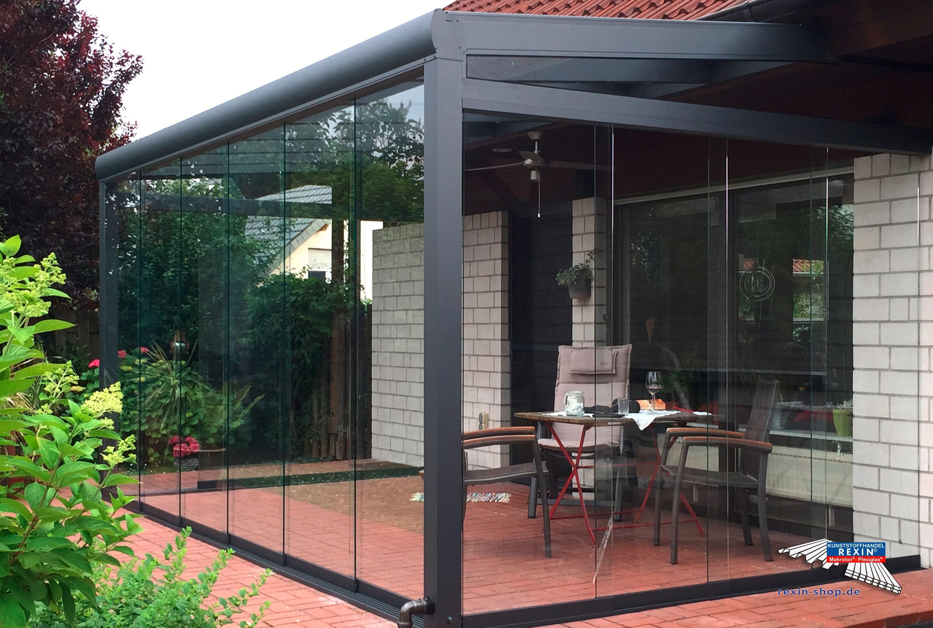 ein alu terrassendach der marke rexopremium anthrazit 5m x 2 m mit vsg eindeckung dur alu. Black Bedroom Furniture Sets. Home Design Ideas