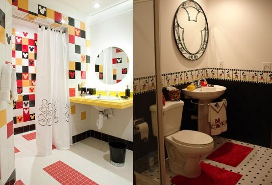 Mickey Mouse Tiles For Bathroom Bathroom Disney Theme For The Home Pinterest Disney