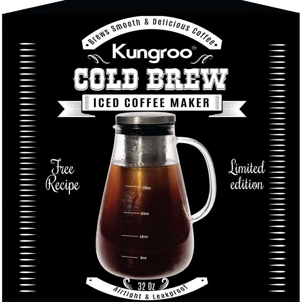 Glass Cold Brew Iced Coffee Maker Airtight Pitcher Carafe