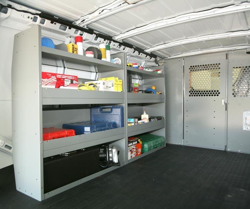adrian steel offers up van shelving and storage solutions hard rh pinterest com  how to install adrian steel shelves