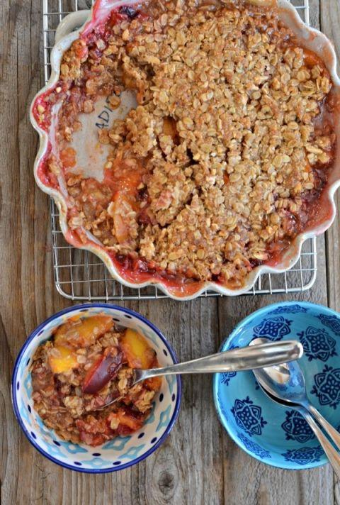 Peach Plum Crisp Recipe Plum Crisp Allergy Free Recipes