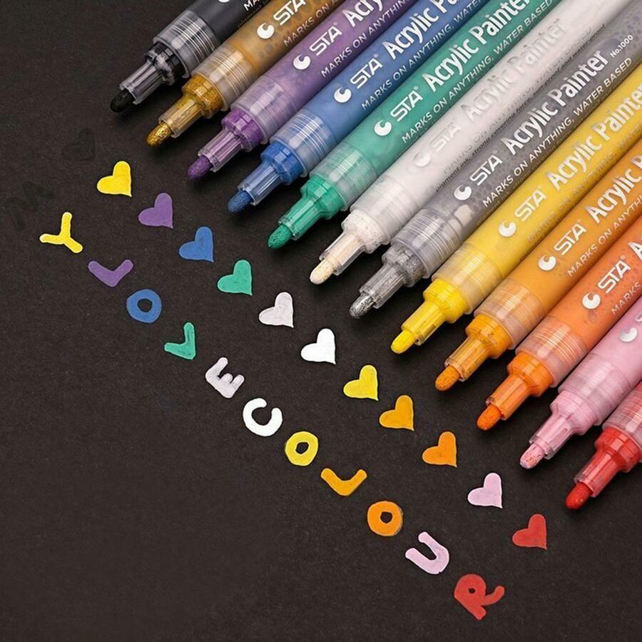Propylene Marker Pen Non Toxic Odorless Waterproof Paint Drawing Pen Bery Ad Spon Pen Paint Marker Pen Acrylic Paint Pens Paint Pens For Rocks