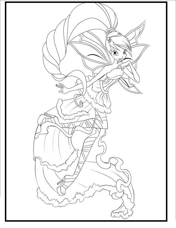 Winx Club Harmonix coloring picture for kids | Coloring ...