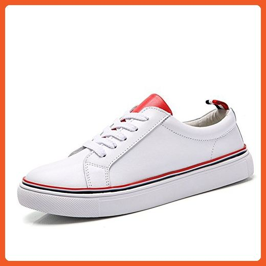 PINSHANG Women s Campus Casual Fashion Sneaker White And Red Shoes 35 M EU  - Sneakers for 0dd0c9496