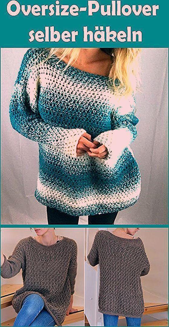 Photo of Oversize-Pullover selber häkeln – kostenlose Anleitung für Anfänger – Häkeln…