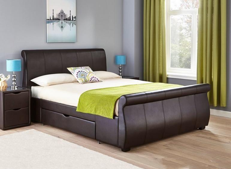 Lucia Upholstered Bed Frame Upholstered Bed Frame Leather