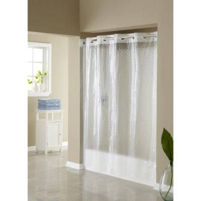 Hookless 3D Diamond 71 Inch X 74 Shower Curtain Clear