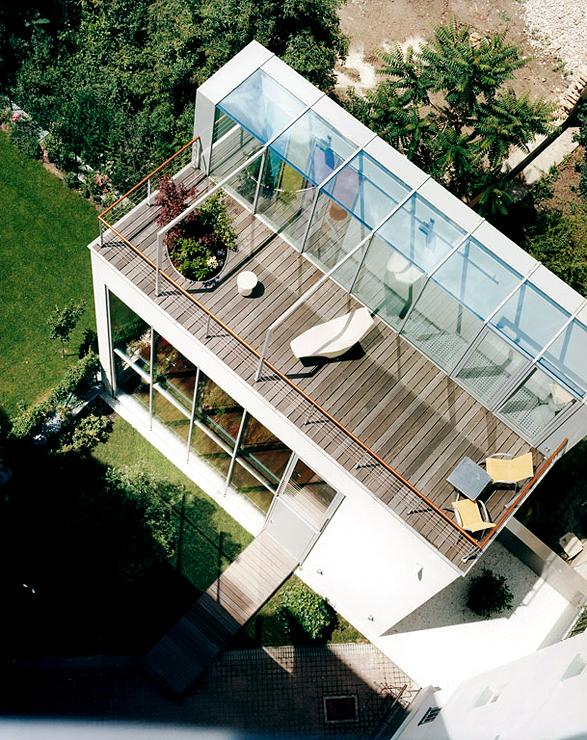 Hinterhofhaus Mit Grosser Dachterrasse Dachterrasse