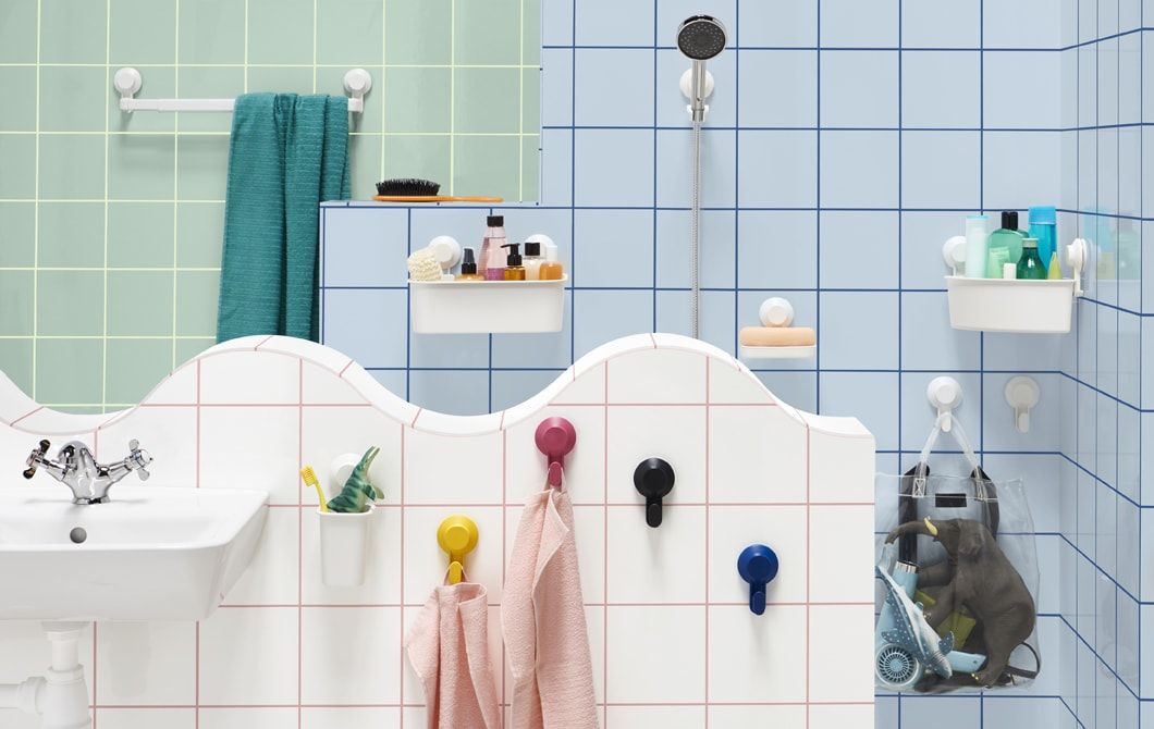 Upgrade Your Bathroom Without Getting The Power Tools Out Thanks To The New Range Of Tisken Suction Accessories A Small Bathroom Decor Shower Head Holder Ikea
