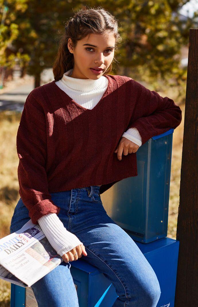 LA Hearts Lightweight Dolman Pullover Sweater