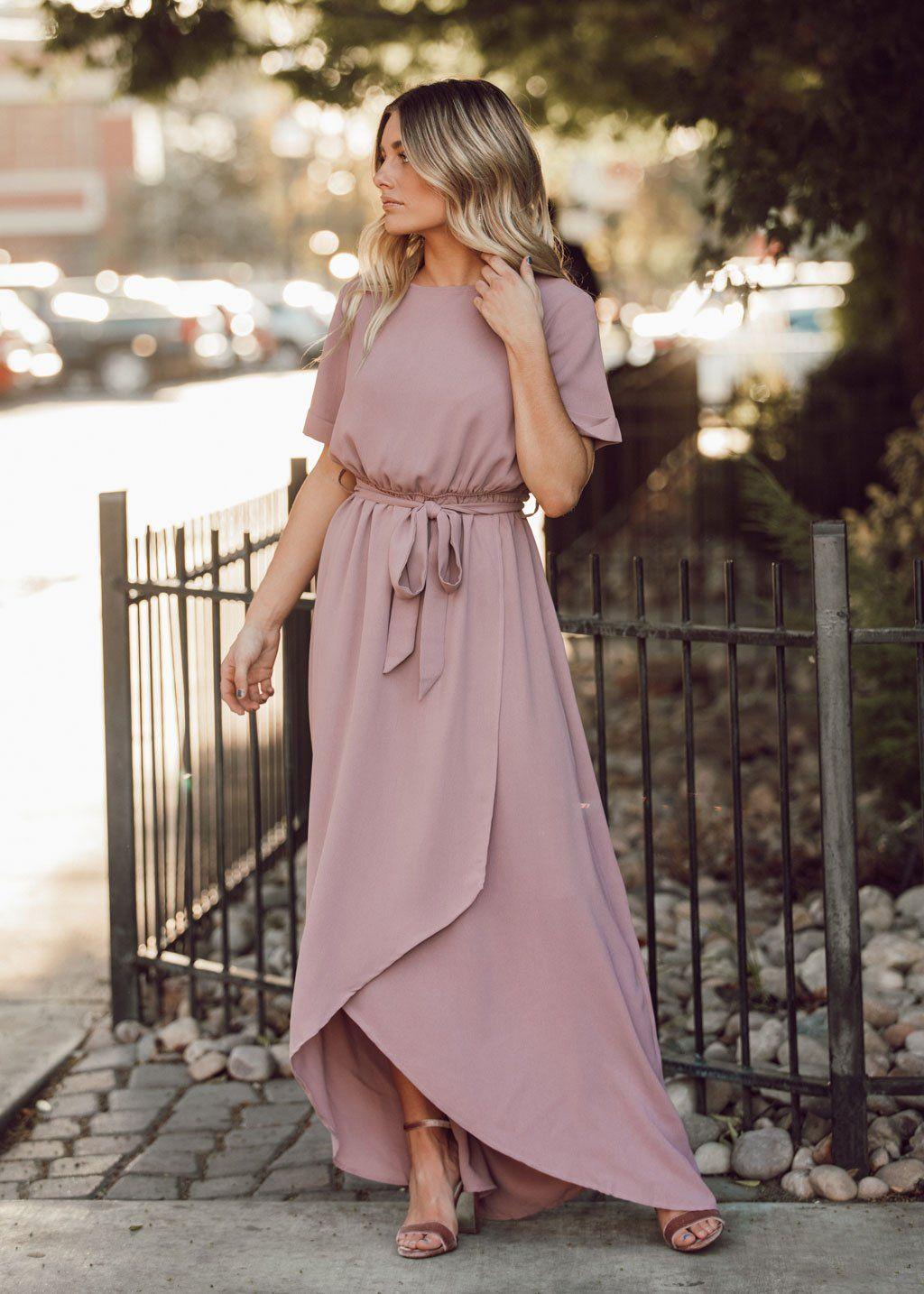Augustine Maxi Dress in 2020 Modest bridesmaid dresses