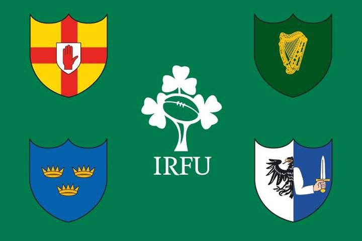 Irish Rugby Football Union Counterclockwise Starting At The Red Hand Of Ulster Munster Leinster Connacht Irish Rugby Munster Rugby Ireland Rugby