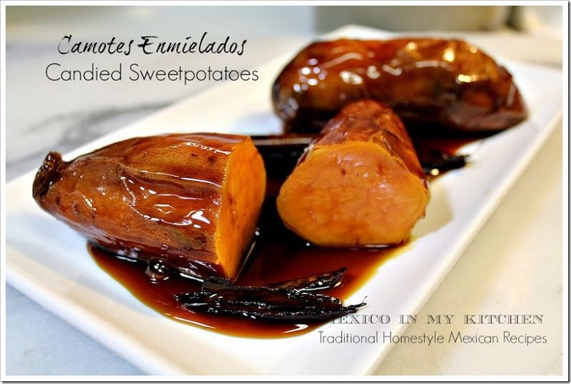 Candied sweet potatoes - camotes enmielados, another classic on the Day of the dead.