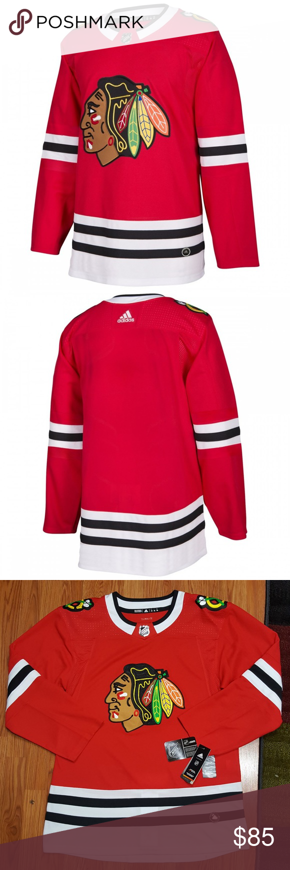 new concept e6b90 eb126 adidas Chicago Blackhawks Authentic Jersey Red 46 Chicago ...