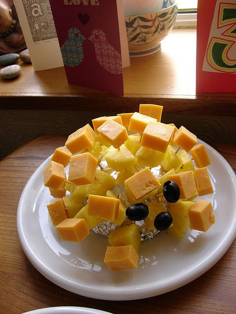 Cheese And Pineapple Hedgehog Party Food Buffet 70s Food