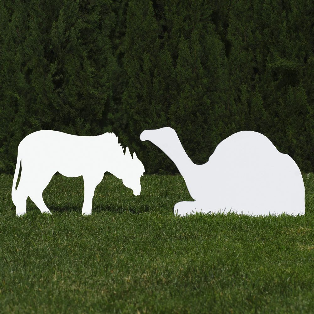 The Donkey And Camel Other Ideas Outdoor Nativity