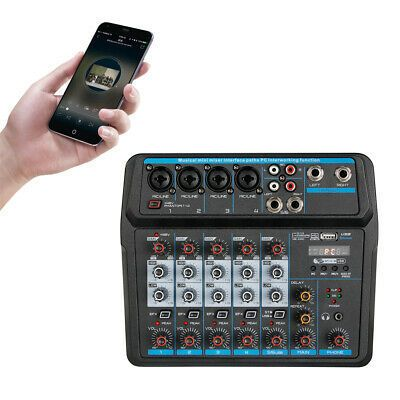 (( 6Channel Sound Mixing Mixer Audio DJ Console Live Recording...