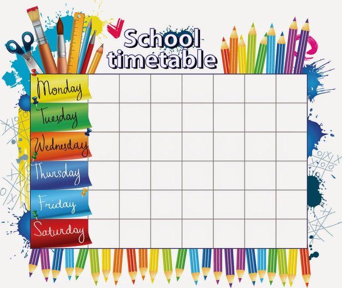 105013720 School 10 Jpg 699 590 School Timetable School Schedule Schedule Template