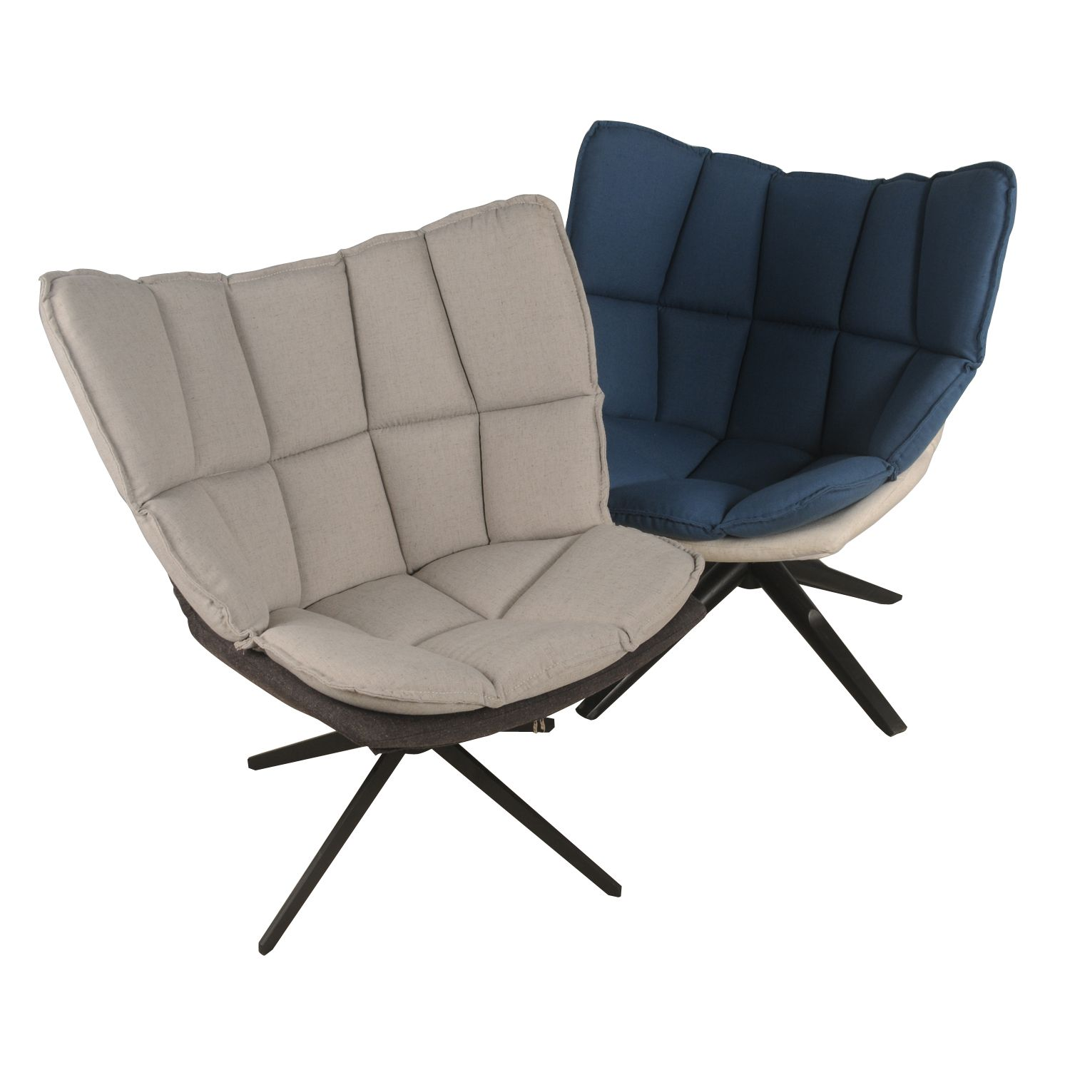 Dillon Fabric Swivel Chair Black Base In Argos And Bistre Or Naval