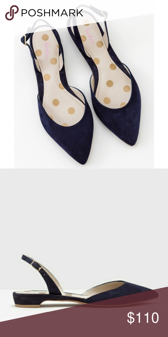 5f411d8e11 Spotted while shopping on Poshmark: Boden Cecelia Navy Suede Slingback Flats!  #poshmark #fashion #shopping #style #Boden #Shoes