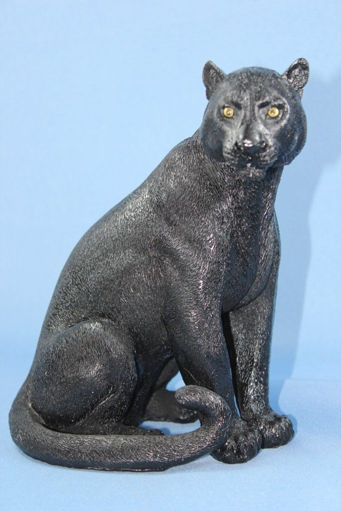 Panther Statue Figurine Black Panther Statue Black Cat Statue New In Box большие кошки кошки