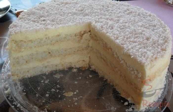 Loading... Zutaten 9 St.Eiweiß 15 ELZucker 3 ELSemmelbrösel 300 gKokosraspeln 1,8 lMilch 200 gMaisstärke 250 gButter 100 gZucker + Kokosraspeln zum Verzieren Zubereitung 3 Eiweiße und 5 EL Zucker steif schlagen. 1 EL Semmelbrösel und 100 g Kokosraspeln unter den Eischnee heben. Den Teig in eine mit Backpapier ausgelegte Tortenform (26 cm Durchmesser) geben und #czechfood