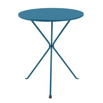 Table De Jardin Ronde Pliante Diametre 60cm Acier Gueridon Table