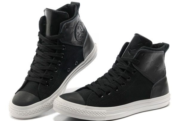 New Stars Leather Converse Chuck Taylor All Star City Lights Black High Tops  Canvas Sneakers -Discount Converse All Star Sneakers Sale,Converse All Star  ...