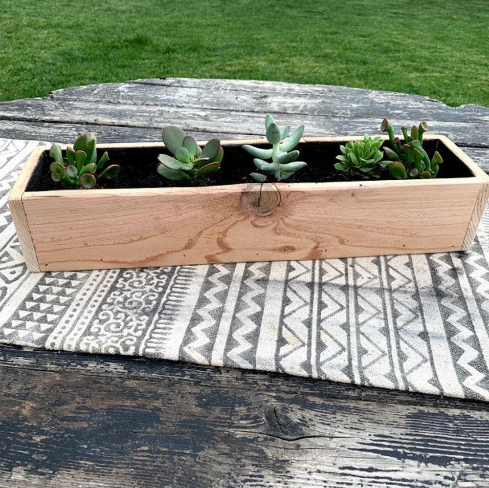 Reclaimed Wood Indoor Outdoor Planter Box Great For Herbs Succulents Cactus In 2020 Outdoor Planter Boxes Outdoor Planters Planter Boxes