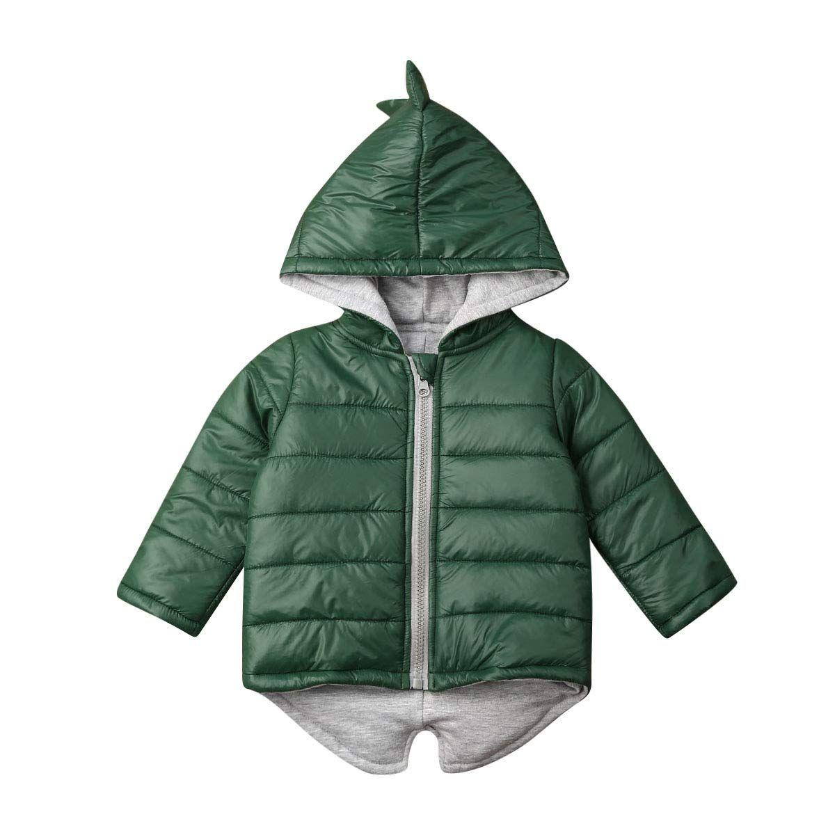 Toddler Baby Boy Girl Coat 3d Dinosaur Winter Long Sleeve Hooded Outerwear Jacket With Zipper 3 4 Years Green Boy Outerwear Warm Jacket Hooded Outerwear [ 1200 x 1200 Pixel ]