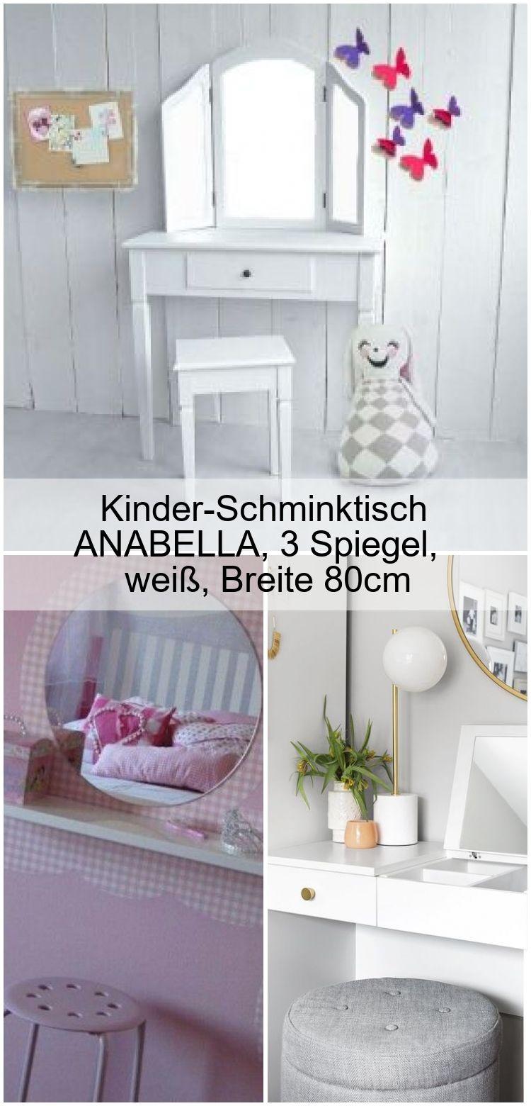 Kinder Schminktisch Anabella 3 Spiegel Weiss Breite 80cm Changing Table Ikea Decor