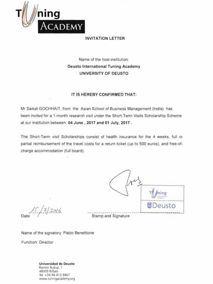 Announcement for letter of invitation from university of deusto announcement for letter of invitation from university of deustospain stopboris Choice Image